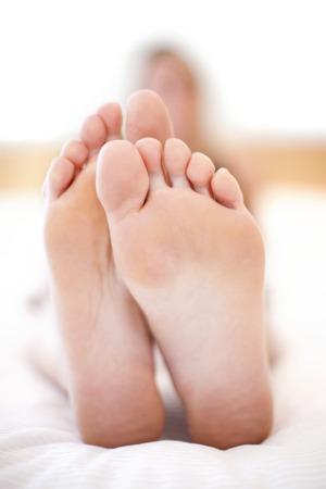 MODEL RELEASED. Womans feet
