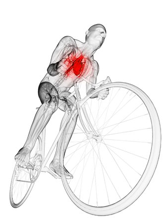 Cyclist,computer artwork