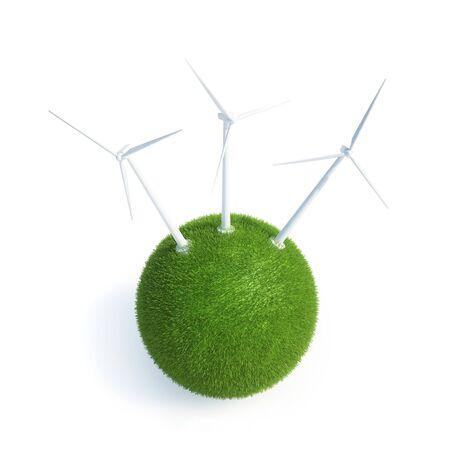 wall socket: Green energy,conceptual computer artwork