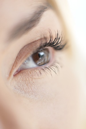 MODEL RELEASED. Womans eye