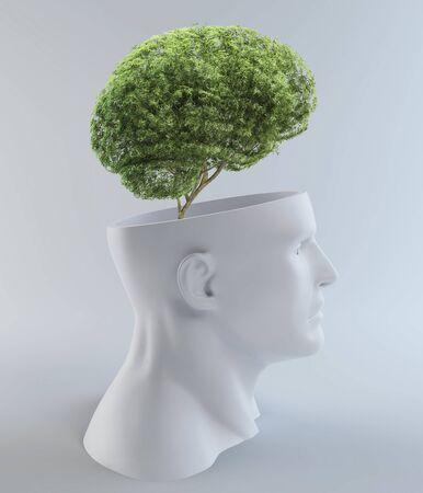 Tree-shaped brain,computer artwork