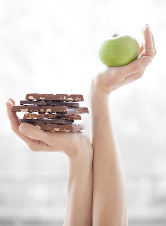 MODEL RELEASED. Balanced diet,conceptual image