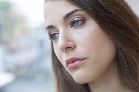 MODEL RELEASED. Depressed woman