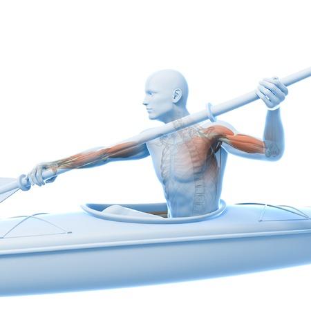 human likeness: Canoeist,artwork