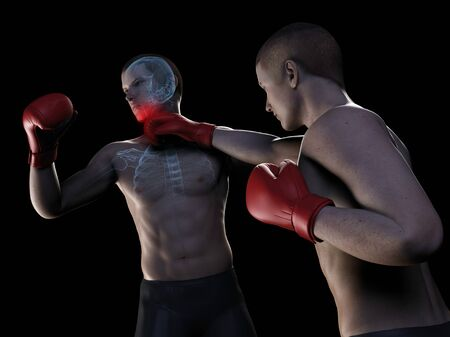 Boxing match,artwork