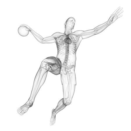 Handball player,artwork