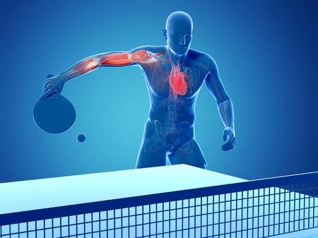 Table tennis player,artwork