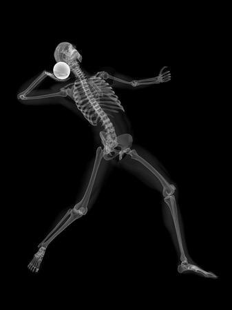 Esqueleto, lanzamiento, tiro, puesto LANG_EVOIMAGES