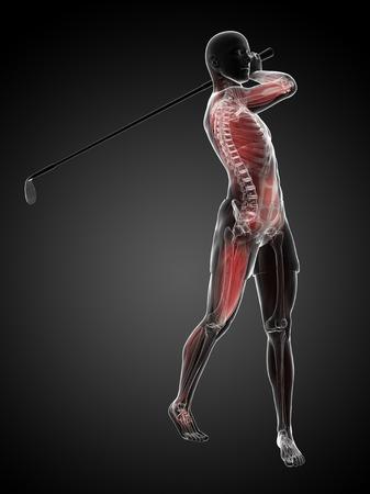 Golf player,artwork
