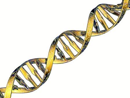 proteomics: DNA double helix reflecting microarray