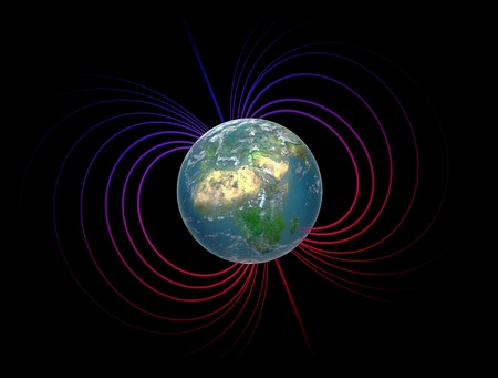 Artwork of the earths magnetosphere