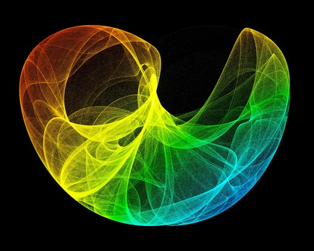 deterministic: Artwork of a lorenz attractor, named after Edward Lorenz, who developed a system of ordinary differential equations. In particular, the Lorenz attractor is a set of chaotic solutions of the Lorenz system which, when plotted, resemble a butterfly or figure