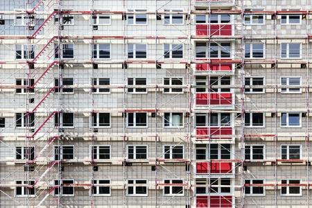 scaffolds: Scaffolding on a block of flats