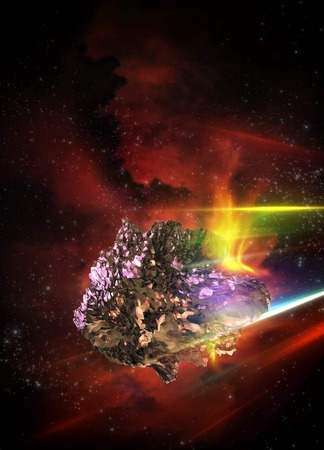 outerspace: Artwork of a meteor in outerspace