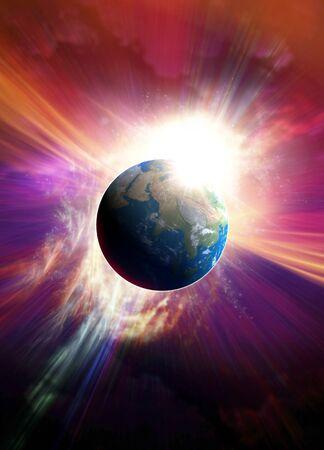 Planet earth, artwork LANG_EVOIMAGES