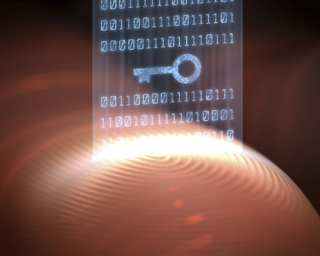 up code: Fingerprint scanner, computer artwork LANG_EVOIMAGES