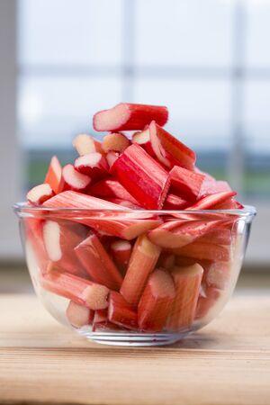 forced: Rhubarb in a bowl