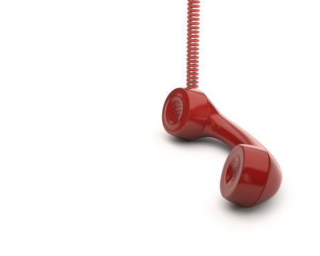 Red telephone handset, computer illustration LANG_EVOIMAGES