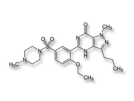 formulae: Viagra drug structure formulae LANG_EVOIMAGES
