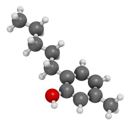 meta: Amylmetacresol antiseptic drug molecule
