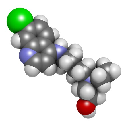 Hydroxychloroquine malaria drug molecule LANG_EVOIMAGES