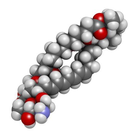 Nystatin antifungal drug molecule LANG_EVOIMAGES