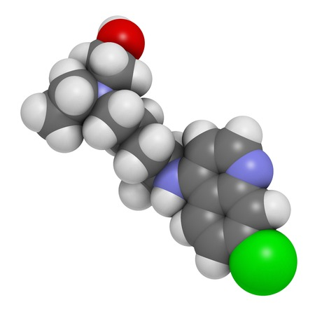 antirheumatic: Hydroxychloroquine malaria drug molecule LANG_EVOIMAGES