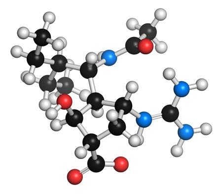 Peramivir influenza drug molecule