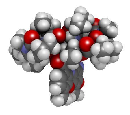 sarcoma: Dactinomycin cancer drug molecule LANG_EVOIMAGES