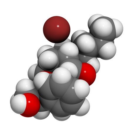 anticholinergic: Butylscopolamine drug molecule