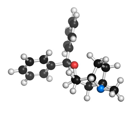 anticholinergic: Benzatropine drug molecule