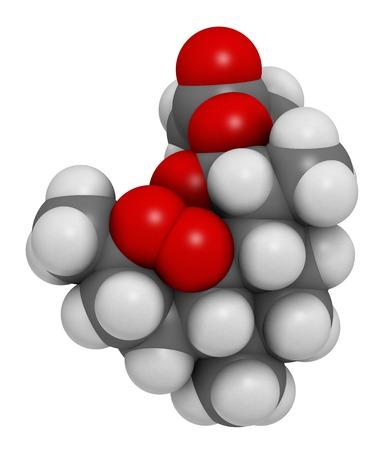 Artesunate malaria drug molecule