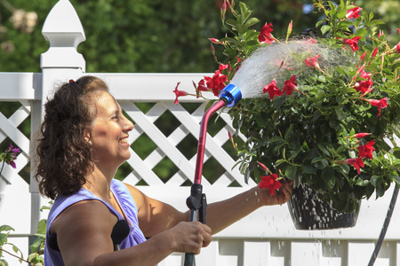 winchester: Woman with disability spraying flowers