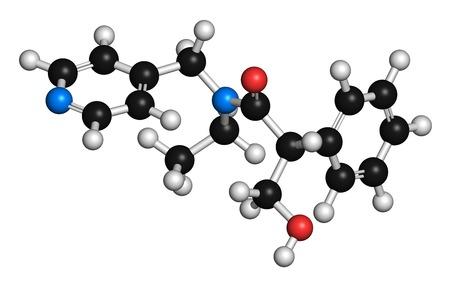 anticholinergic: Tropicamide mydriatic eye drug molecule