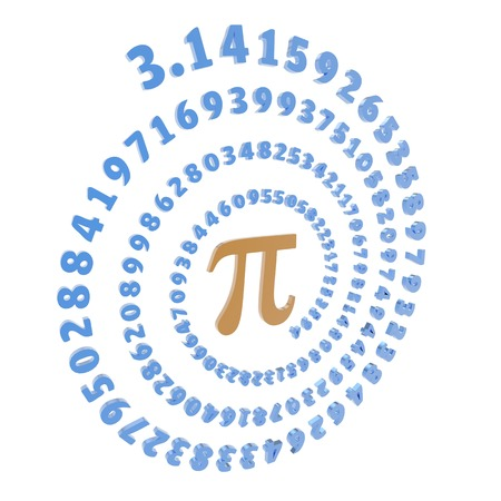 transcendental: Pi symbol and number, artwork
