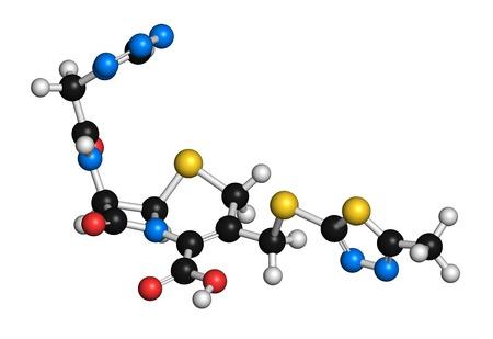 Cefazolin antibiotic drug molecule LANG_EVOIMAGES
