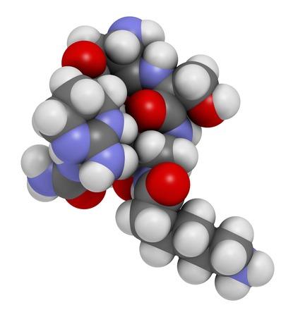 Capreomycin antibiotic drug molecule