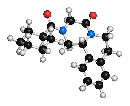 Praziquantel anthelmintic drug molecule
