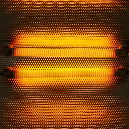Electric heater, close up