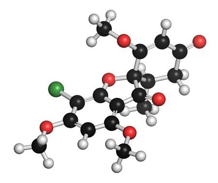 Griseofulvin antimycotic drug molecule