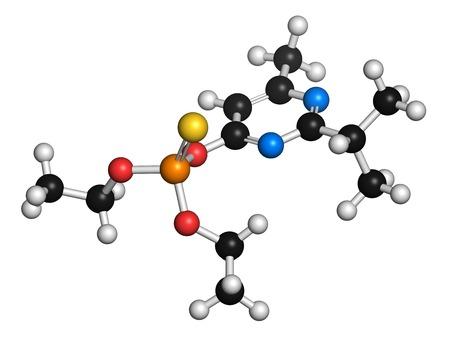 acetylcholine: Diazinon organophosphate molecule