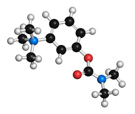 acetylcholine: Neostigmine drug molecule LANG_EVOIMAGES