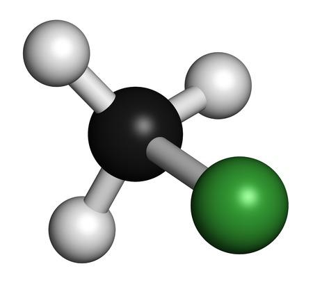 Chloromethane molecule LANG_EVOIMAGES