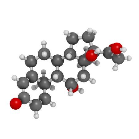 Prednisolone corticosteroid drug molecule