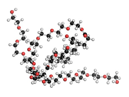 emulsifier: Polysorbate 80 surfactant molecule LANG_EVOIMAGES