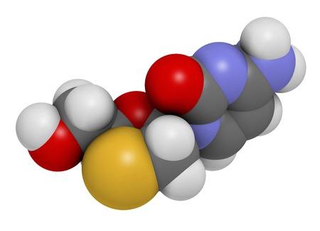 nucleoside: Lamivudine antiviral drug molecule
