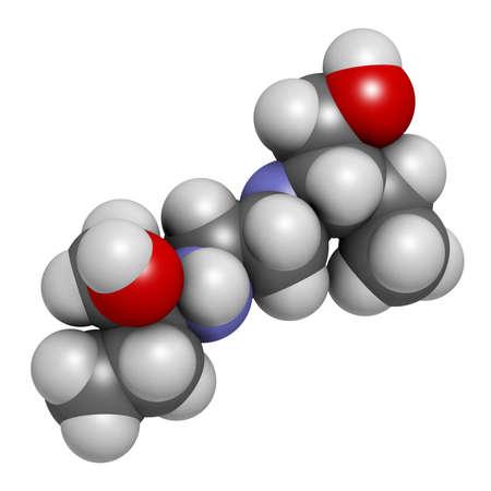 bacteriostatic: Ethambutol tuberculosis drug molecule