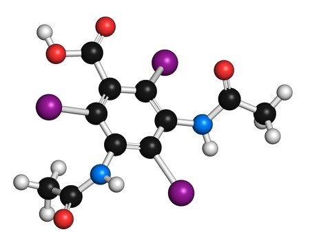 Diatrizoic acid contrast agent molecule