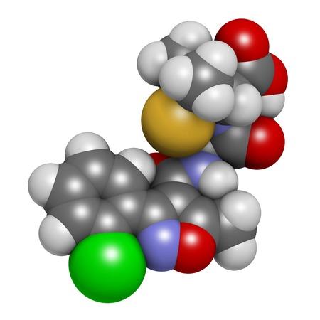 Cloxacillin antibiotic drug molecule LANG_EVOIMAGES