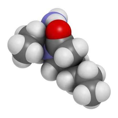 Brivaracetam anticonvulsant drug molecule